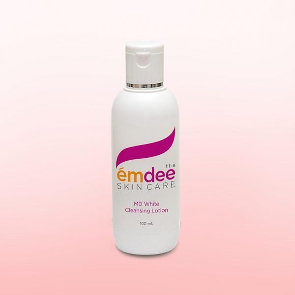 white cleansing lotion